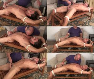 Brandon Racked and Tormented hand job slow teasing